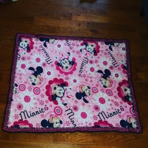 Minnie Mouse Hand stitched boarder baby blankets